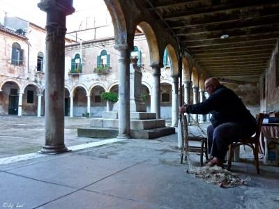 Alberto lavorando nel Campo San Pietro